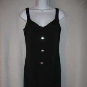 Nanette LePore Sleeveless Black Dress Rhinestones
